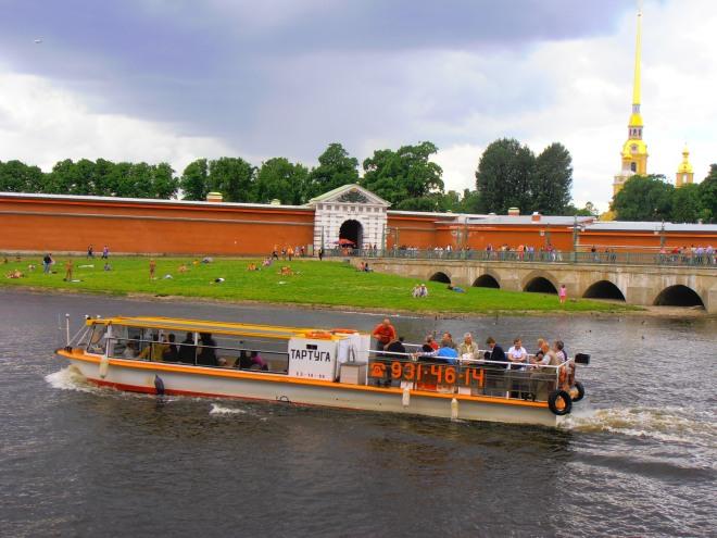 Cruising along the Neva River, St. Petersburg, Russia