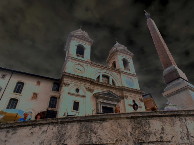 The view from the Spanish Steps