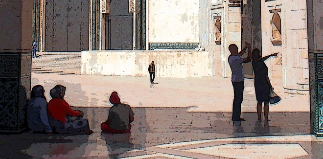 People-watching in Casablanca