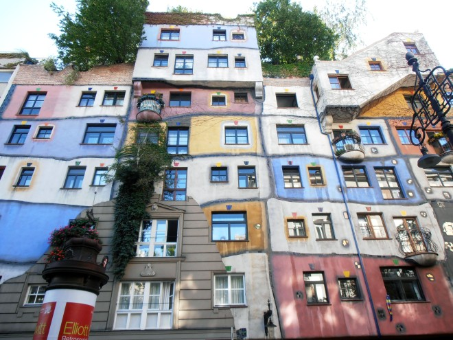 The Hundertwasserhaus residential living experiment in Vienna