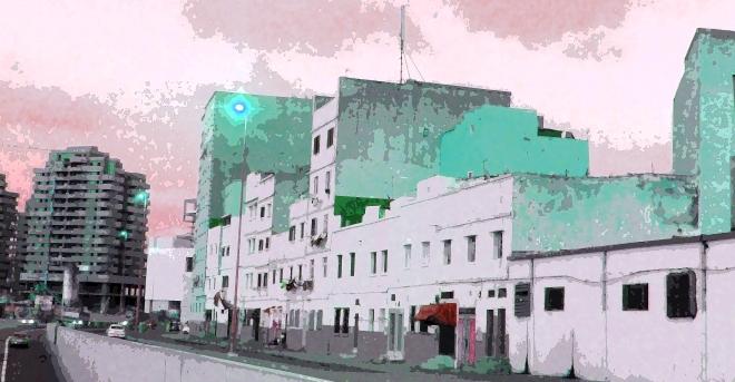The urban scene in Casablanca, Morocco