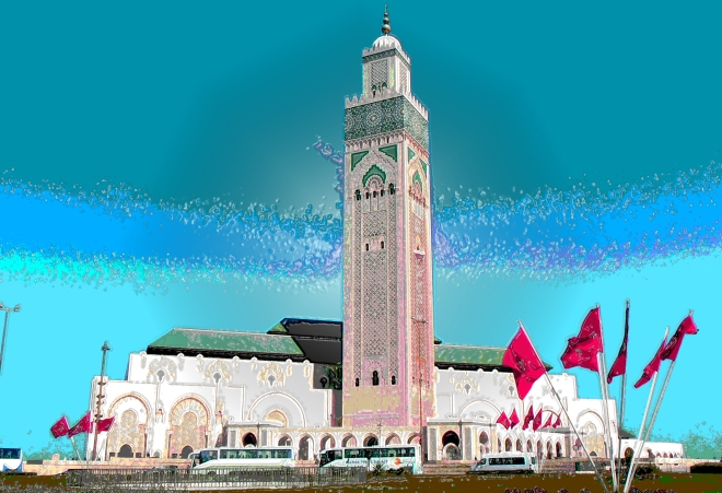 Another view of Hassan II Mosque