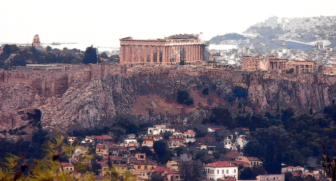 View of the Acropolis, Athens