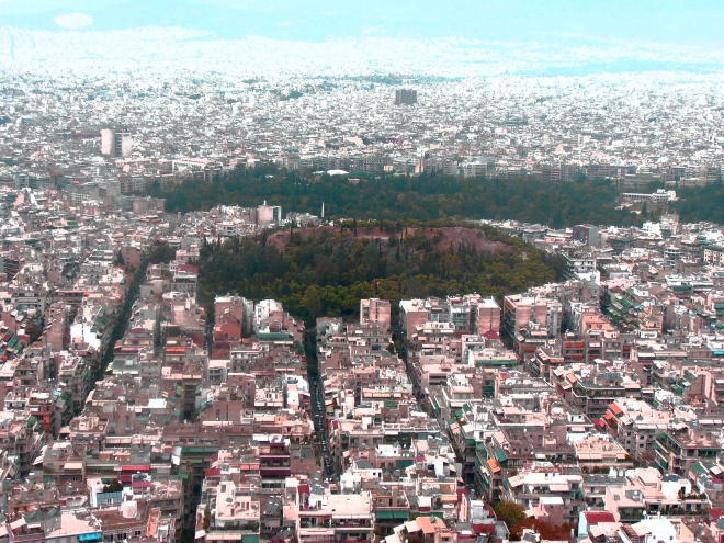 Aerial of Athens