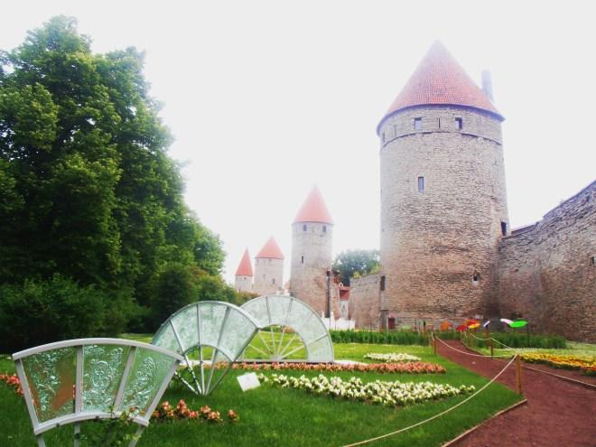 Outside the medieval walls of Tallinn, Estonia