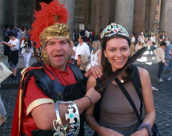 Rome: This is what I look like with no makeup and too much alcohol. I have no idea who the woman is to the right